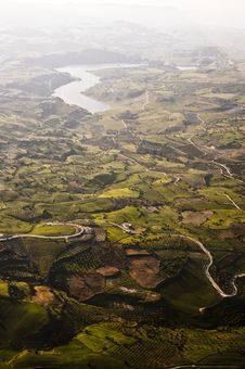 Free Aerial View Of Farm Fields Stock Images - 16066204