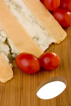 Gloucester With Cheese Blue And Tomato Stock Image
