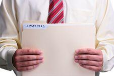 Free Man Holding A Folder Stock Photography - 16066232
