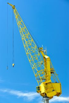 Yellow Crane Stock Images