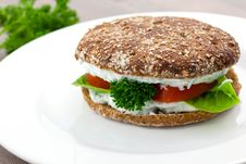 Free Breakfast Bap Royalty Free Stock Photos - 16066418