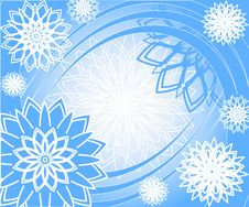 Free Christmas Background With The Snowflakes Royalty Free Stock Photo - 16066885