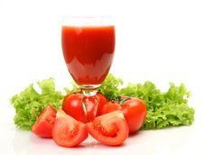Fresh Vegetables And Juice Royalty Free Stock Image