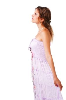 Free Charming Young Girl In Dress Stock Photo - 16067730