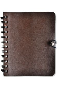 Leather Cover Notebook Royalty Free Stock Photography