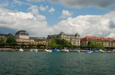 Free Uto-Quai Seen From Zurich See Port Stock Photos - 16068423