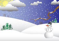 Snowman.vector. Stock Image