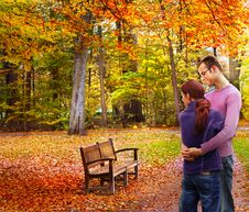 Free Happy Couple In Autumn Stock Photo - 16069260