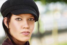 Free Stylish Young Woman Stock Image - 16069271