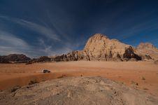 4WD Wadi Rum Desert Royalty Free Stock Images