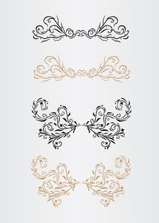 Free Ornamental Page Decorations Royalty Free Stock Photos - 16069668