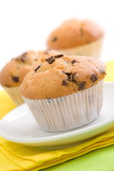 Free Chocolate Chip Muffins Royalty Free Stock Photography - 16069677