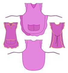Free Woman Apron With Frills And Pockets Stock Photos - 16069733
