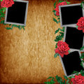 Free Vintage Card For The Holiday With Red Rose Stock Photos - 16070093