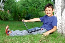 Free Boy With Notebook Royalty Free Stock Photo - 16070465