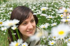 Free Girl In Meadow Royalty Free Stock Photography - 16070517