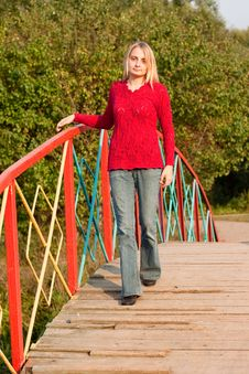 Free Girl In Red Pullover Royalty Free Stock Photography - 16070777