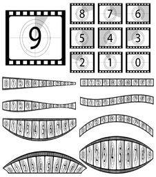 Free Film Countdown Illustration Royalty Free Stock Photos - 16070868