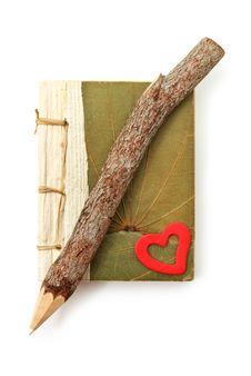 Free Natural Pencil And Note Pad Stock Image - 16070941