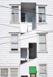 Free White Wooden Windows Stock Photography - 16071472