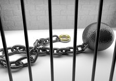 Free Marital Ball And Chain Royalty Free Stock Image - 16071886