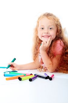 Free Drawing Girl Stock Photography - 16072012