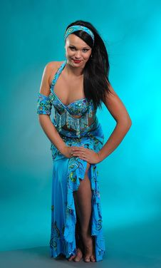 Free Beautiful Sexy Dancer Woman In Bellydance Costume Royalty Free Stock Image - 16072066