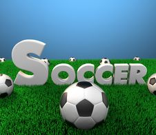 Soccer Scene Stock Photography