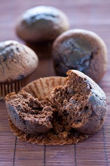 Free Tasty Chocolate Muffin Royalty Free Stock Photos - 16072138