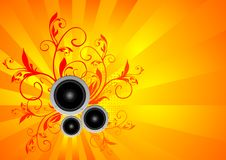 Free Vector Music Illustration With Speakers Stock Photos - 16072393