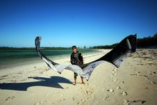 Free Kiter In Madagascar Wind Stock Photography - 16072532