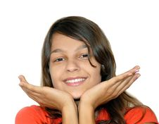 Free Cheerful Teenage Girl Royalty Free Stock Image - 16072736