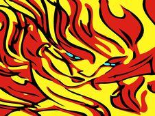 Free Flaming Woman Royalty Free Stock Photos - 16072958