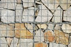 Free A Fragment Of Gabion Wall Stock Image - 16073101