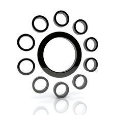 Black Circles Stock Photos