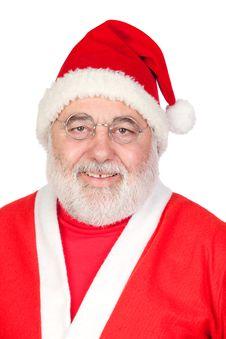Portrait Of Santa Claus Stock Photos