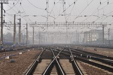 Free Smog Over Railway Station In Moscow, Russia Royalty Free Stock Photo - 16073945