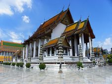 Wat Sutat Stock Photo