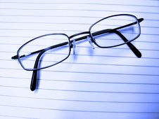 Closeup Of Eyeglasses Stock Photography