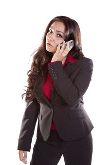 Free Business Woman On Phone Mad Stock Photos - 16074413