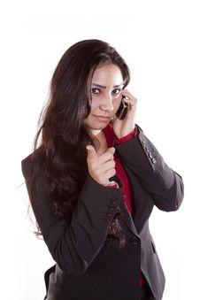 Business Woman On Phone Accusing Stock Images
