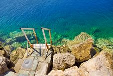 Free Stairs To Sea Royalty Free Stock Photography - 16074897