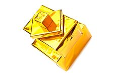 Free Golden Gifts Boxes Stock Photo - 16075720
