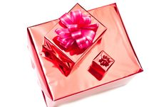 Free Red Christmas Gifts Boxes Stock Image - 16075721