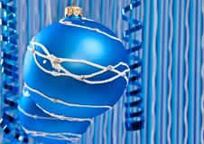 Free Blue Christmas Decoration Stock Photography - 16075762