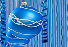 Blue Christmas Decoration Stock Photography