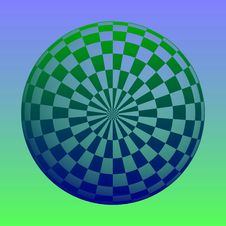 Free Blue Green Ball Sphere Royalty Free Stock Photography - 16076817