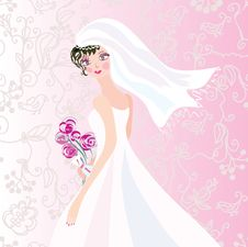Free Bride On The Romantic Background Royalty Free Stock Photography - 16076997
