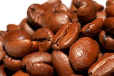 Close Up Of Coffee Beans Pile Royalty Free Stock Photography