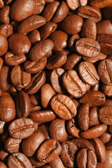 Free Coffee Background. Vertical Shot Stock Image - 16077481